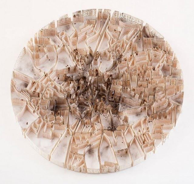 Paper-Sculptures-Map