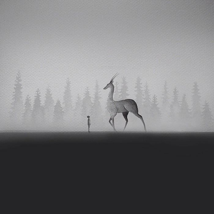 Black-And-White-Watercolors-Illustrations_1