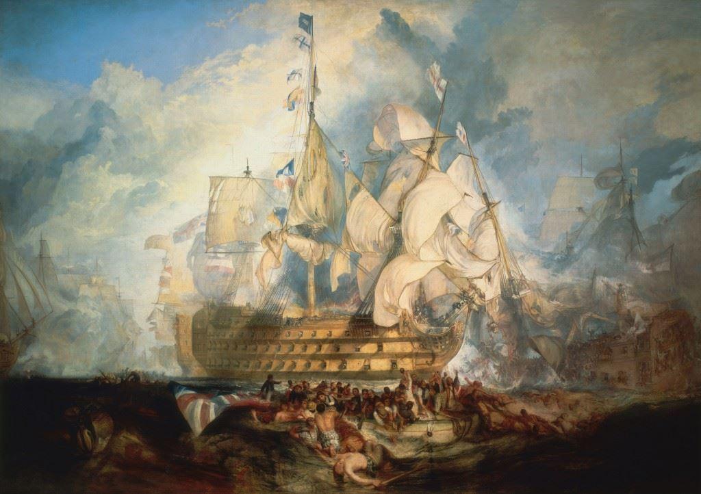 Turner-The-Battle-of-Trafalgar-1822-24-National-Maritime-Museum-Greenwich-London
