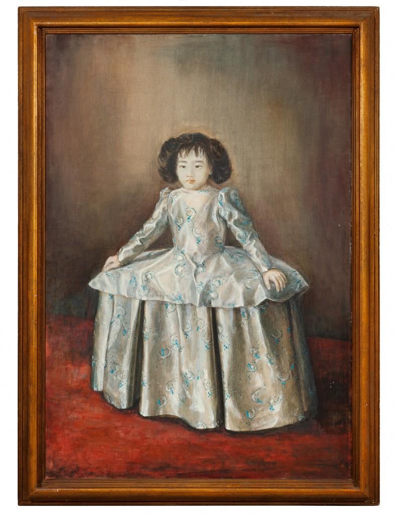 人像(女兒徐馨慧)。1973年。油彩、畫布。 徐馨慧提供