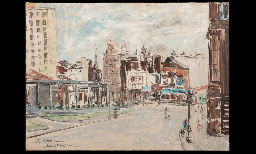 風景(紐約)。1961年。油彩、畫布。圖/徐馨慧提供