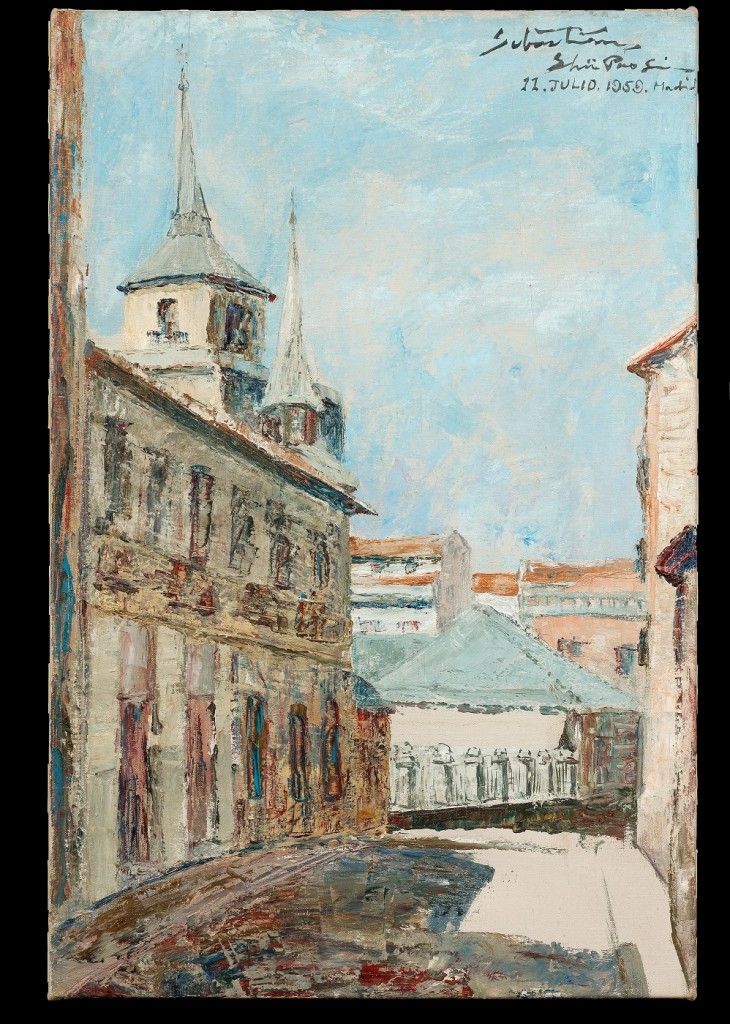 風景(馬德里)。1959年。油彩、畫布。圖/徐馨慧提供