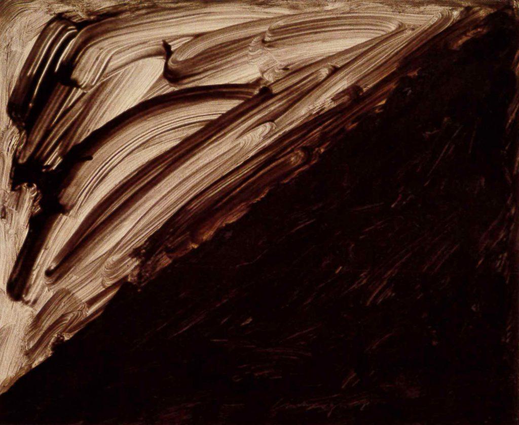 林壽宇_紙上作品_油彩,紙_1957(非畫廊) Richard LIN _work on paper _Oil on Paper _52.2x63.7cm_1957