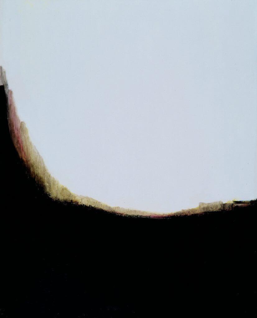 Panyoun WANG 王攀元_A Mountain Dwelling 山上人家_Oil on Cancas 油畫 _162x130cm_1998(形而上畫廊)