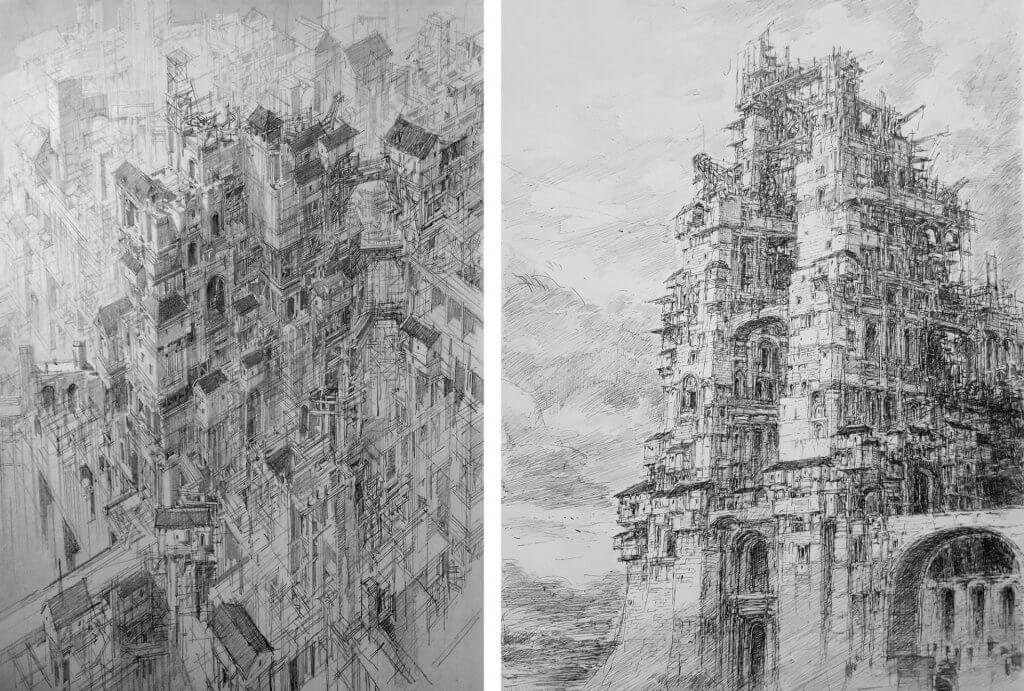 無限空間建築草圖