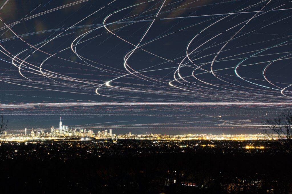 飛機縮時攝影