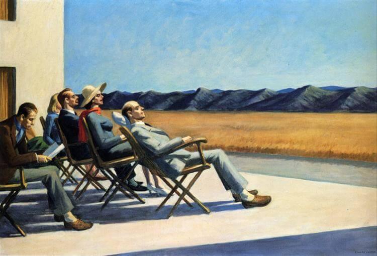 Edward Hopper,愛德華·霍普,神祕學觀藝術,星座,巨蟹座,城市美學新態度