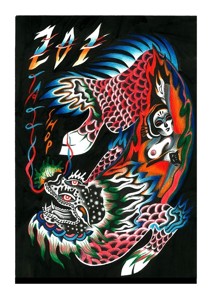 pezzeep,刺青,繪畫,藝術,城市美學新態度,德國打工渡假,廟,民間故事,台灣傳統文化,復古,Betty,卡通動漫,復古搖滾, Frida Kahlo, 芙烈達,墨西哥畫家