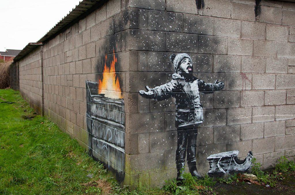 Banksy,班克斯,班克西,塗鴉,聖誕,耶誕,藝術,城市美學新態度