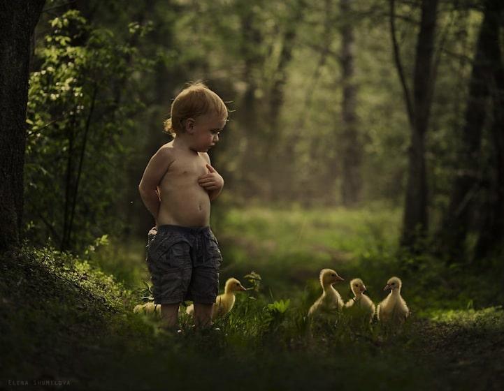 Elena Shumilova,兒童攝影,攝影技巧,夢幻,俄羅斯,攝影,母親,小孩,動物,藝術,光線,城市美學新態度