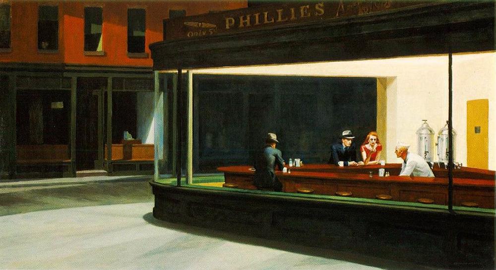愛德華霍普,Clark et Pougnaud,繪畫,攝影