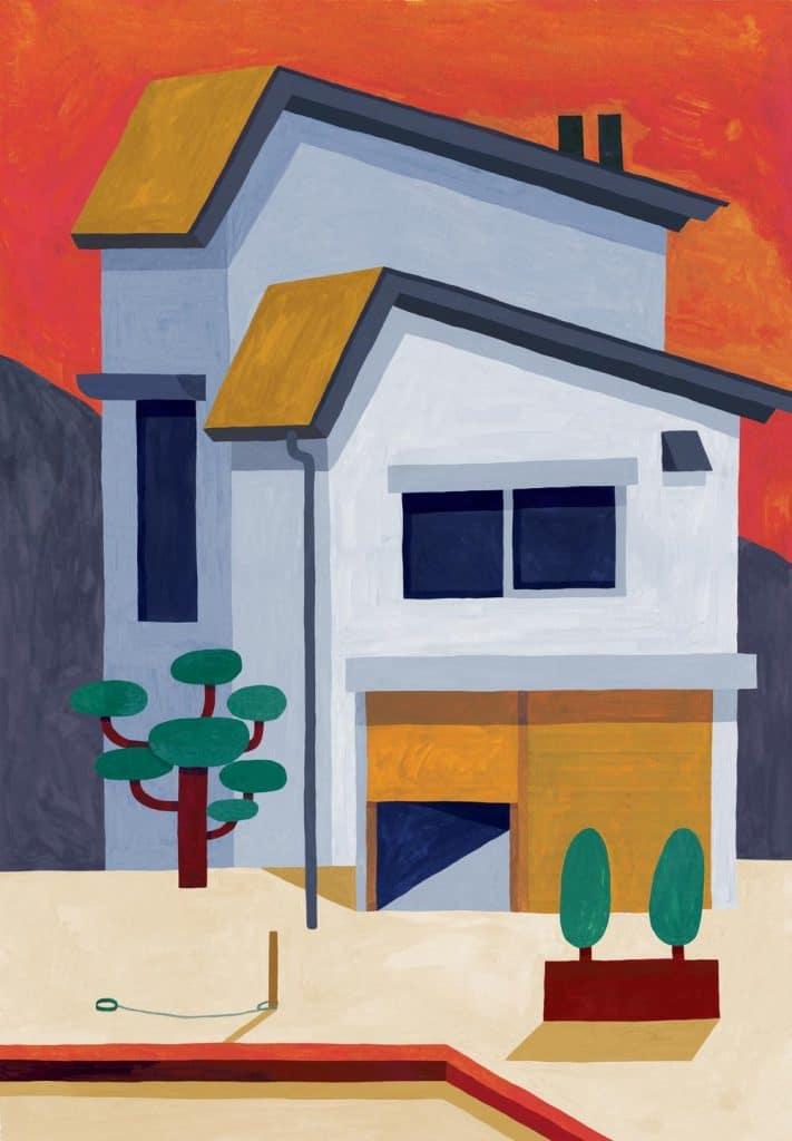 荷蘭鹿特丹插畫家,Maaike Canne,文化差異性,現代主,modernist,世紀中期現代主義,mid-century,公共澡堂,せんとう,銭湯,孤獨死,こどくし