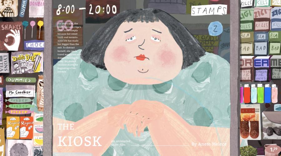 拉脫維亞設計師, Anete Melece,動畫短片,The Kiosk,Olga