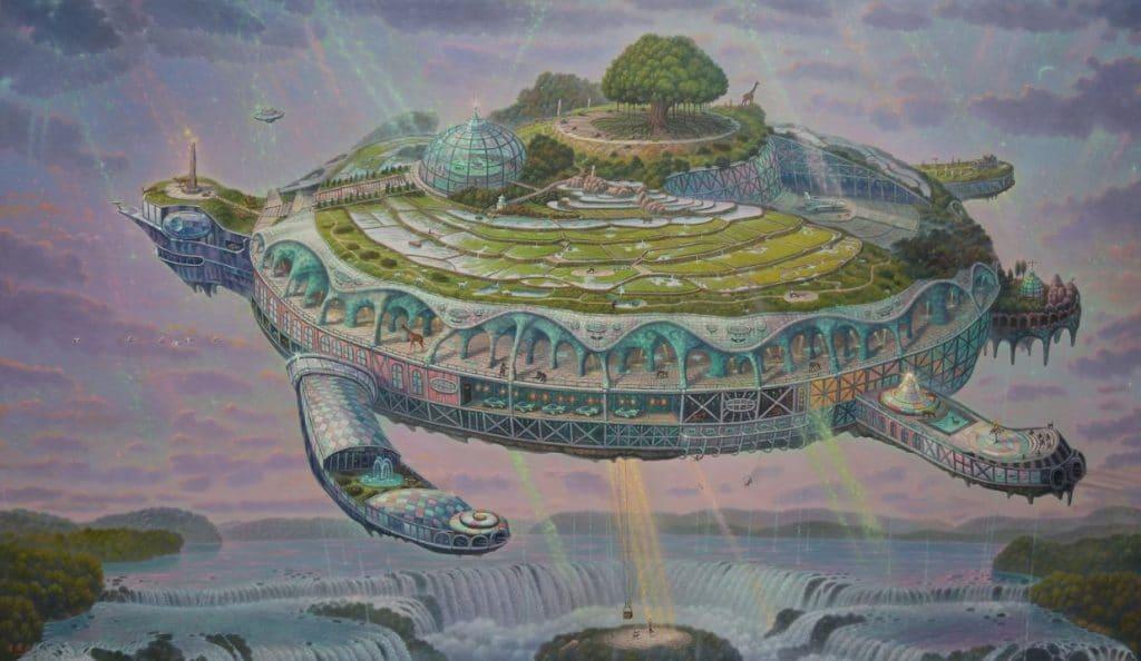 連建興,《烏龜島幸福方舟》,宛儒畫廊