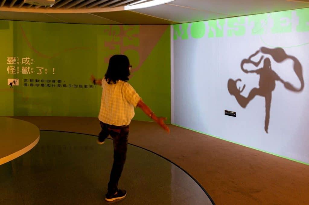 以「怪獸」概念來發想設計的互動體驗區。