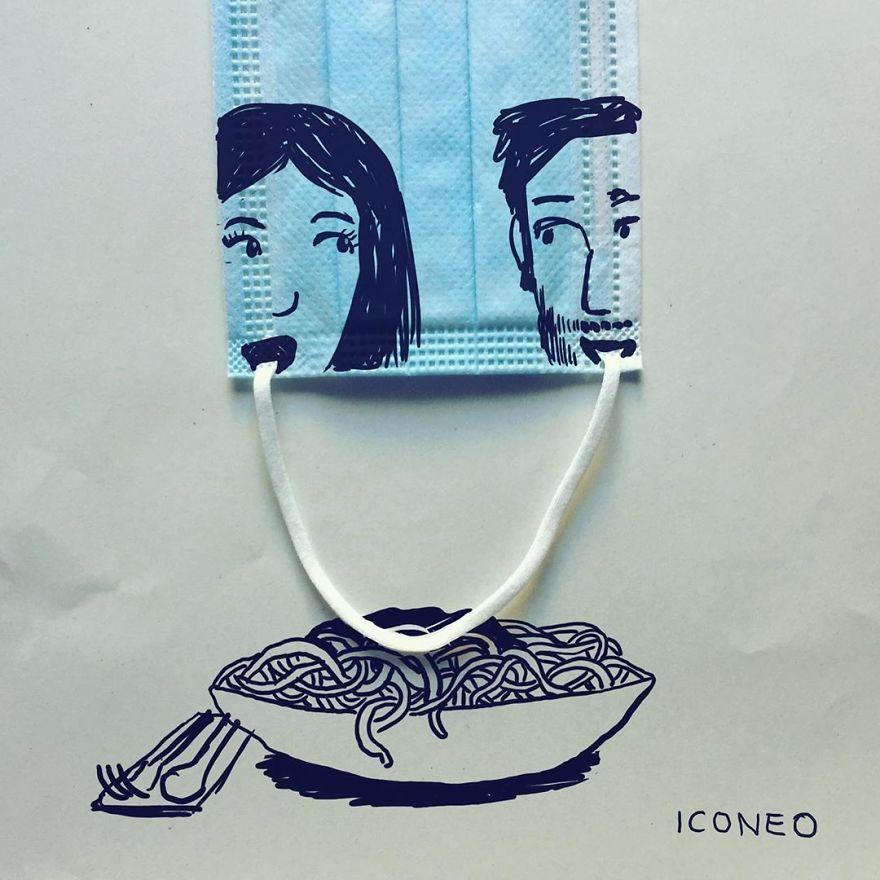 Steffen Kraft的口罩藝術