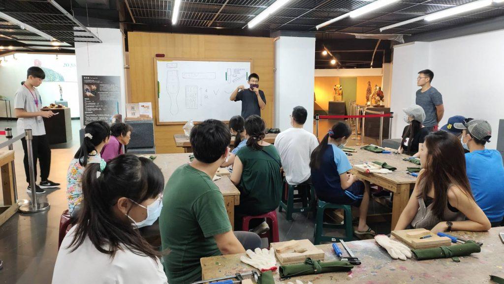 藝術家 吳宗彥 ,三義茶器木作體驗營活動