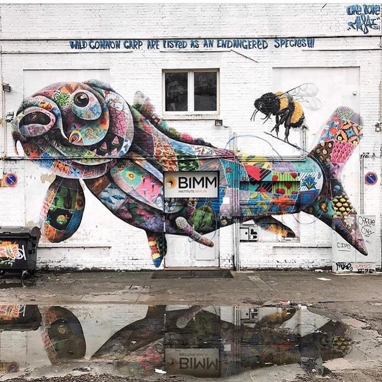 Louis Masai 拼布動物壁畫