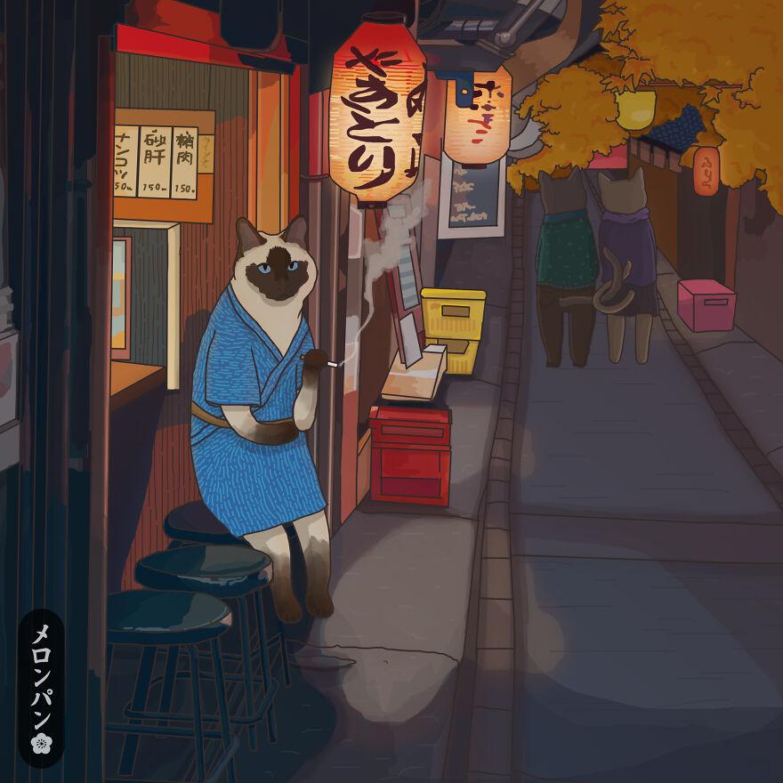 《Meronpan》動物插畫