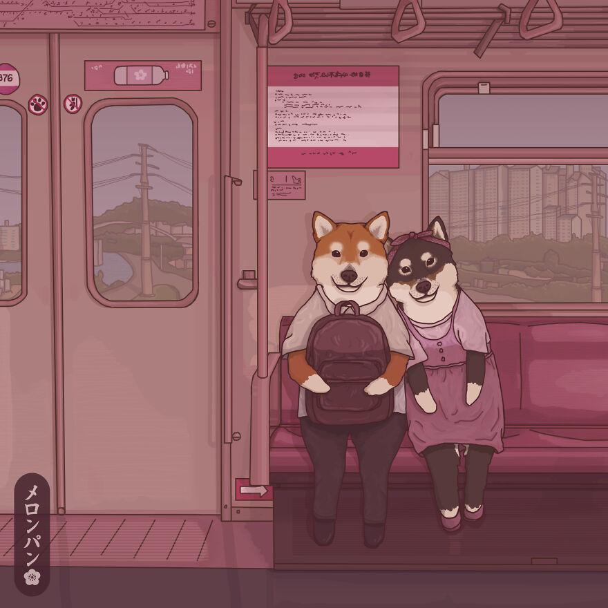 《Meronpan》 動物 插畫