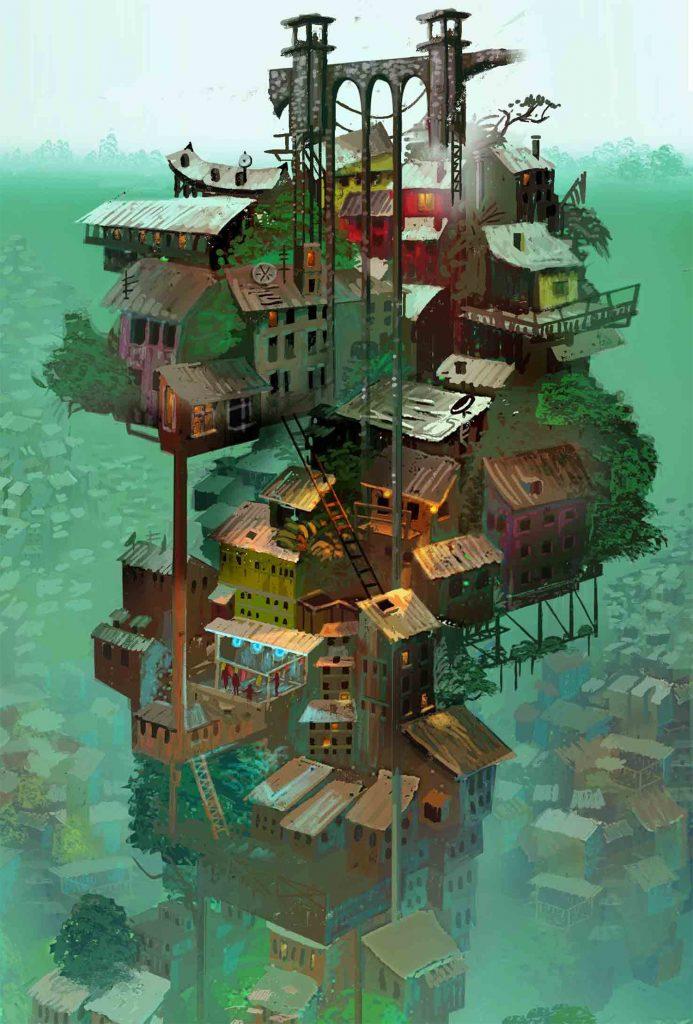 Raphael Vanhomwegen數位插畫都市