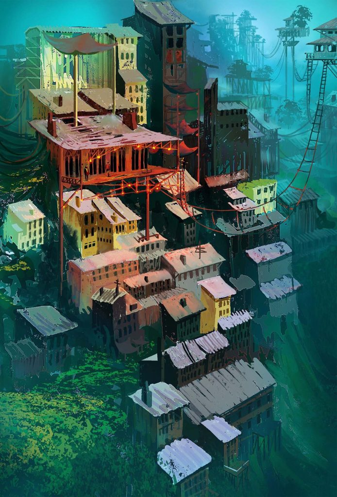 Raphael Vanhomwegen 數位插畫 都市