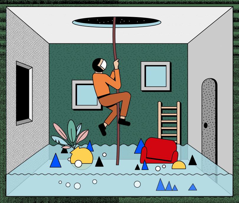 Simo Liu插圖《Escape》