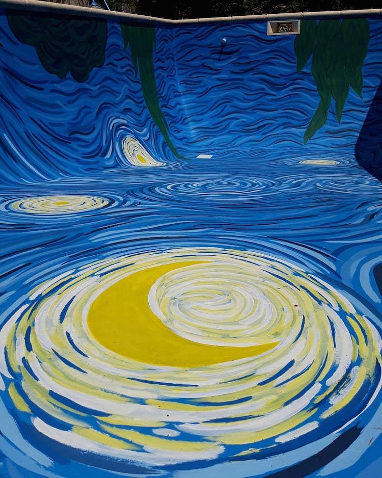 AMANCAY.MURALES 星夜 游泳池
