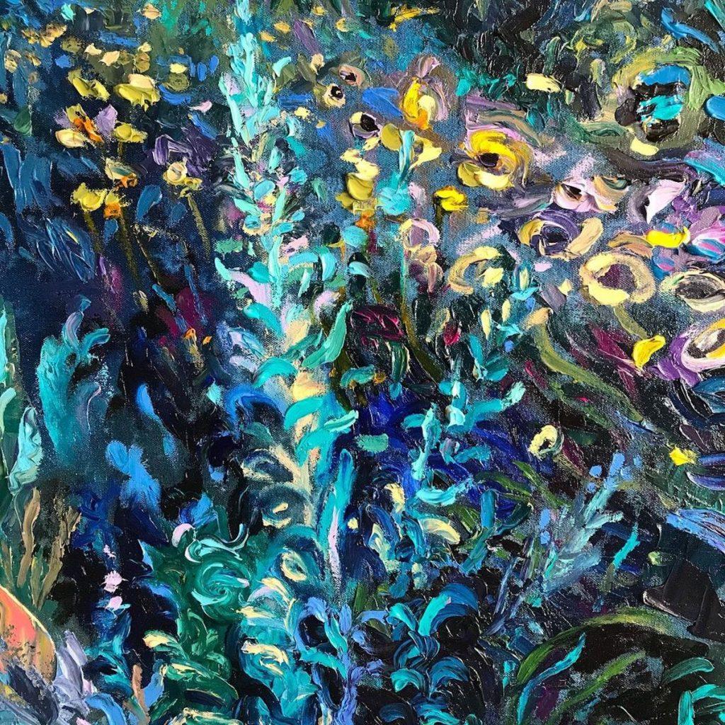Iris Scott 手指 油畫
