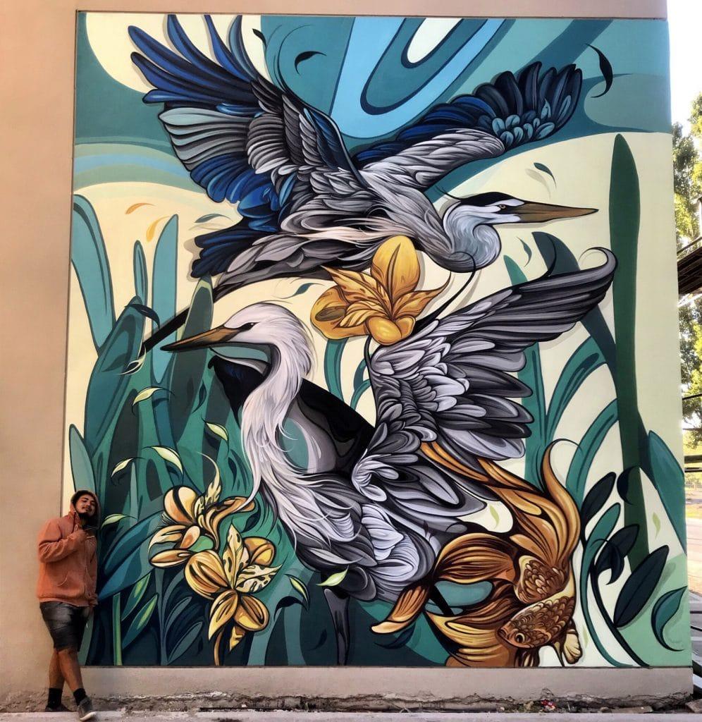 鳥 壁畫 Fio Silva