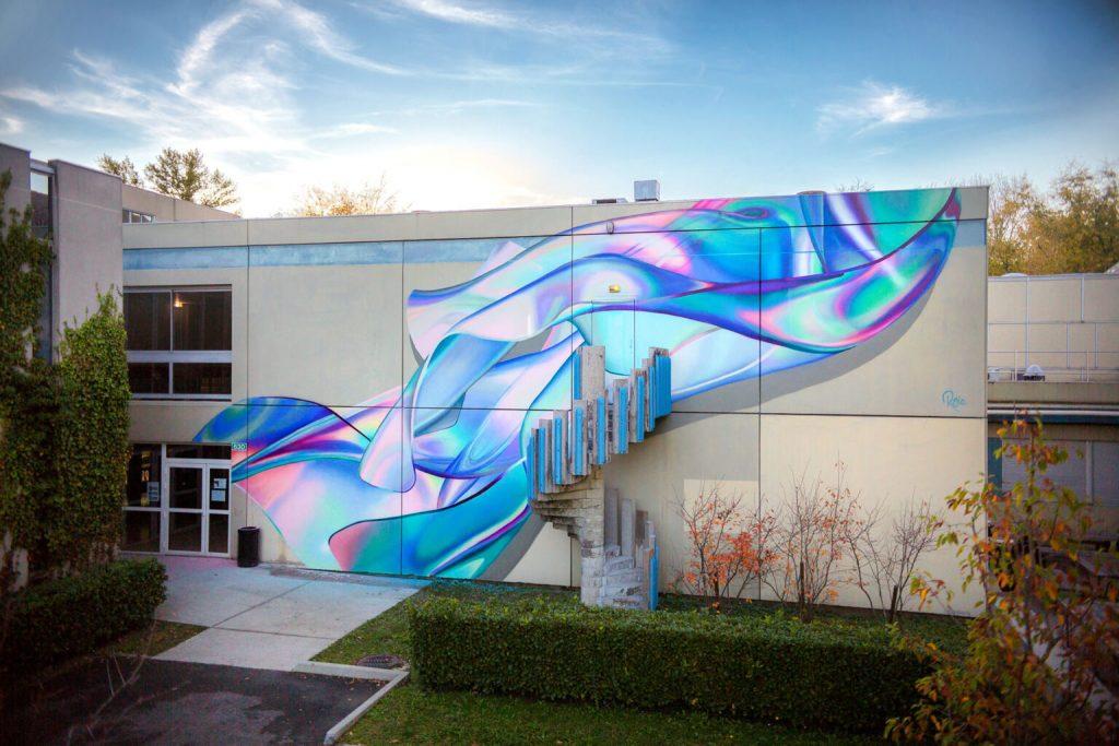 螢光 立體壁畫