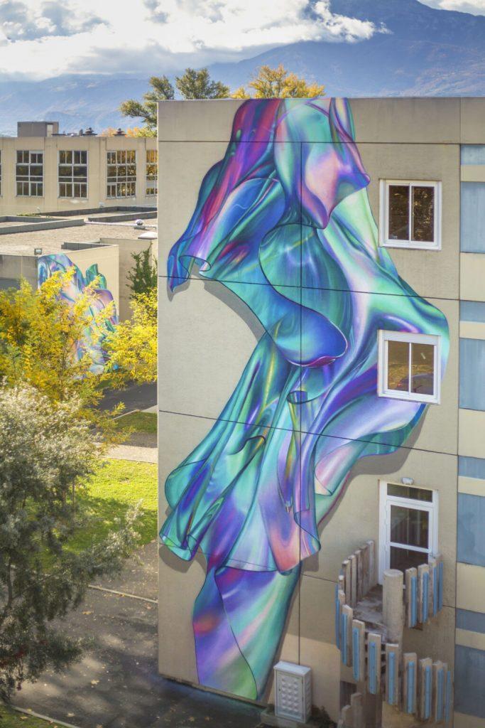 螢光感立體壁畫