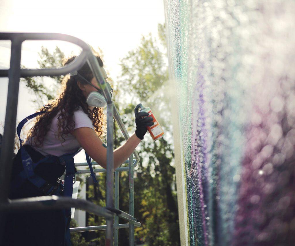 Rosie Woods 立體壁畫